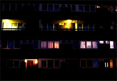 The John Penn Street Estate in a homage to Close Encounters of the Third Kind ([fakey]) Tags: london night greenwich fakey johnpennstreet