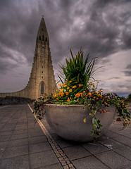 Arrangement ... (asmundur) Tags: flowers church iceland hdr photomatix june2006 3exposures