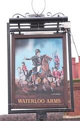 The Waterloo Arms pub sign Lyndhurst Hampshire UK (davidseall) Tags: the waterloo arms pub pubs sign signs inn tavern bar public house houses lyndhurst hampshire uk gb british english p j pj oldreive