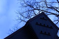 IMG_9497 (DerekSteen) Tags: peddlersvillage newhope pennsylvania bokeh christmas lahaska clouds roof