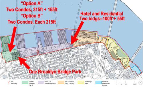 Brooklyn Bridge Park Map w Bldgs