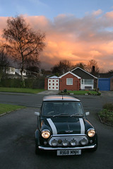 Mini sunset (_nod) Tags: mini cooper rover minicooper car sunset clouds sky