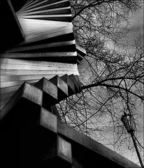 . untitled . (3amfromkyoto) Tags: 2005 uk cambridge england blackandwhite bw sculpture white black monochrome architecture wow university december lamppost department untitled 3amfromkyoto flickr:user=3amfromkyoto