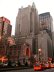 The Waldorf-Astoria (Jim Lambert) Tags: 2005 nyc newyorkcity usa ny newyork building architecture skyscraper buildings us autumn2005 skyscrapers unitedstates manhattan fall2005 parkave december2005 stbarts uppereastside waldorfastoria gebuilding stbartholomews saintbartholomews 12172005 17december2005 december172005 generalelectricbuilding