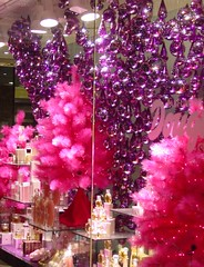 store window hot pink purple
