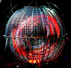 Sphere of Death (Dave Hogg) Tags: light red circus cage sphere davehogg