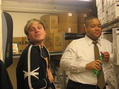 coworkers (saltsoda) Tags: robert work basement coworkers jeremiah marshallfields stockroom