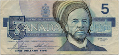 currency art (gramera) Tags: bill 5 five dollar cinq canadian canada currency blue fin laurier 5dollarbill money paper rasta pm ottawa defaced bank bankofcanada rastafari