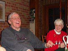 dad and mom (sharwest) Tags: christmas laughing mom dad missingfingers stillworksintheshopmakingbeautifulthings