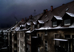 post-christmas depression (maxivida) Tags: roof winter house snow gloomy maybe monday karlsruhe topf100 oneyear leftover maxivida lowsaturation 500v50fav moda world100f