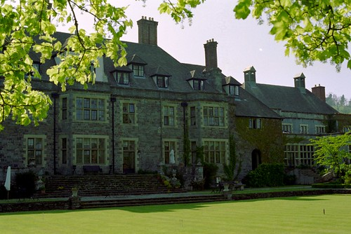 Llangoed Hall from the back yard