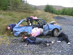 Car wreck Donegal