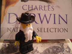 Charles Darwin (Kaptain Kobold) Tags: beard toy book topv333 lego darwin evolution plastic charlesdarwin scientist naturalselection moc kaptainkobold yourfave