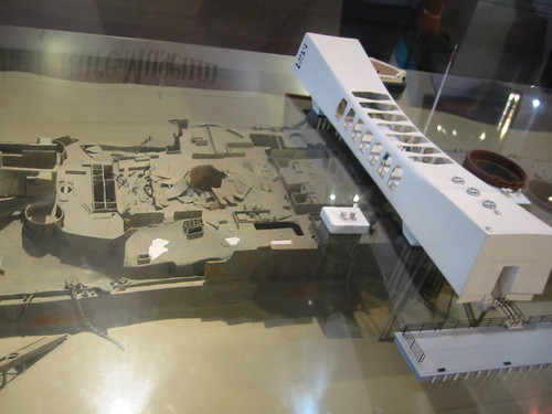 Model view, USS Battleship Arizona, Pearl Harbor