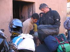 Petrol stop, M'hmid (andywalker1) Tags: travel sahara desert bikes morocco biking bmw dakar gs andrewwalker motorcycling voyages motorbiking westernsahara andywalker desertbiking bmwgs650 bmwdakar gs650 stevesenior mhmid