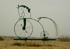 Horcycle (eyair) Tags: sculpture horse bike bicycle statue israel  penny beersheva  pennyfarthing farthing     ashmashashmash