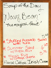 The magical fruit (RBerteig) Tags: menu leroys soupoftheday navybean magicalfruit