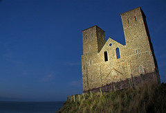 Reculver at Night - by Keith Marshall