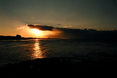 Sunset / Coucher de soleil (vemma) Tags: sunset water northsea fcsetsrises