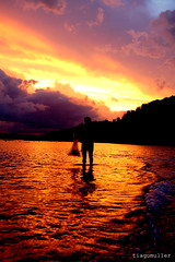 sunset (tiagomuller) Tags: sunset pordosol sol sun crepusculo cores reflexo mar beach pescador nikon nikond50 zimbros sc santacatarina brasil