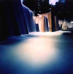 Ira Keller Fountain (Zeb Andrews) Tags: beautiful oregon 1025fav wow square portland cool nice fantastic 500v20f crossprocess great cityscapes 100v10f pinhole 2550fav fountains zeroimage i500 interestingness228 explore11jan2006 zero66 bluemooncamera zebandrews zebandrewsphotography