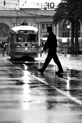 Ode to Cartier Bresson (Thomas Hawk) Tags: sanfrancisco california city blackandwhite bw usa white black topf25 silhouette delete2 blackwhite topf50 san francisco unitedstates fav50 market 10 trolley unitedstatesofamerica save3 delete3 save7 jaywalker save8 delete save save2 fav20 line financialdistrict save9 save4 muni castro f embarcadero ferrybuilding save5 save10 marketstreet save6 streetcar raining fav30 tramway cartierbresson ftrain fline marketst 1057 fmarket savedbythedeletemeuncensoredgroup fav10 fav25 fav100 fav200 fav300 fav40 fav60 fav90 fav80 fav70 magmag superfave fav500 fav400