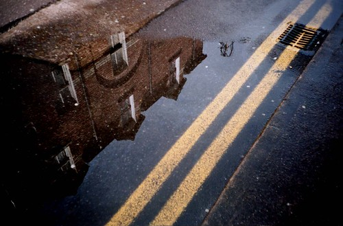 Reflection with Yellow Lines