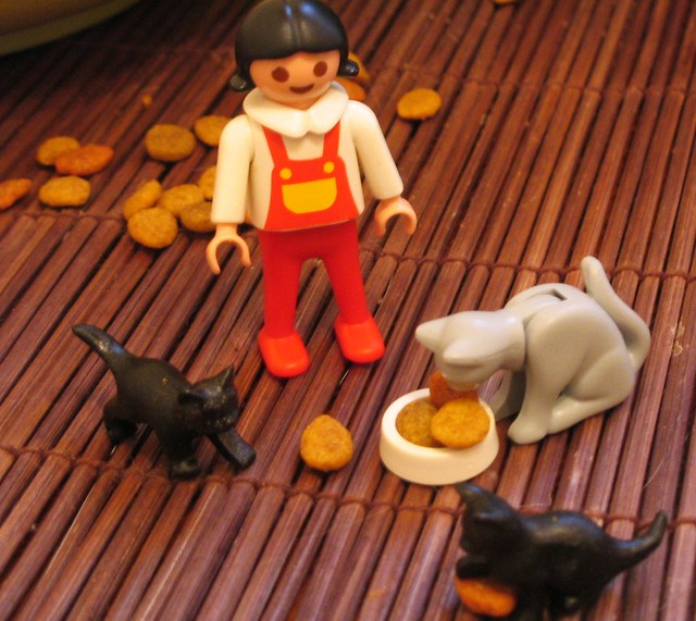 CRAZY CAT LADY PLAYMOBIL FROM GROC!
