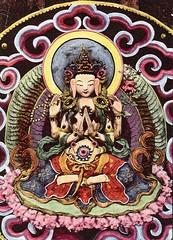 Shenrezig sculpture in butter (jiulong) Tags: choni gansu monastery buddhism