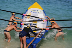 Hold her steady! (sengsta) Tags: beach surfboat lifesavers boaties aussies surflifesaving carnival