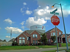 McMansion (Dean Terry) Tags: street houses house film dallas texas suburban watertower suburbia documentary stop stopsign collincounty plano sprawl cookiecutter mcmansion mcmansions deanterry subdivided planotexas mchouse