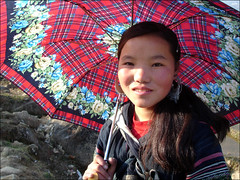 Under the Red Umbrella  (mboogiedown) Tags: travel black girl asia lulu vietnam southeast northern chu lao chai sapa hmong villager hilltribe ethnicminority hmoung