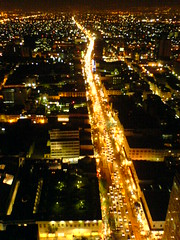 Mexico city traffic (stevec77) Tags: cameraphone road cars night mexico lights mexicocity df k750i traffic headlights elevated ciudaddemexico mexicodf latinamericantower 111v1f