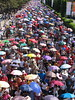 sinulog 2006 - sea of umbrellas (adlaw) Tags: sinulog sinulog2006 procession stonino festival cebu cebucity philippines catholic tradition colorful umbrellas people cebuano colors culture religion faith cebusugbo