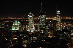 Montreal - Night (caribb) Tags: canada skyline night buildings lights edificios downtown skyscrapers nightshot montral quebec montreal great qubec citylights centrum centreville cityatnight kanada urbanskyline concretejungle nightskyline buildingslitup
