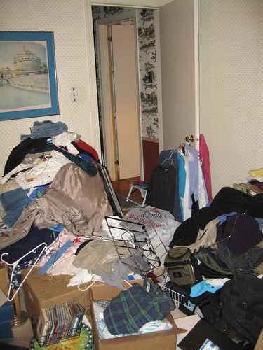 Clutter (View to Bedroom Door)