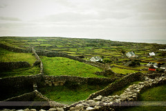 Aran Landscape, Inisheer, Aran Islands (Seven Seconds Before Sunrise) Tags: travel ireland galway water clouds rural landscape europe eire stonewall inisheer aran aranislands connacht