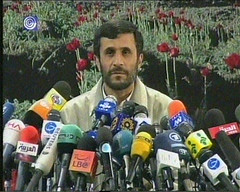 May I have a mic please (eyair) Tags: funny iran president  ahmadinejad    ashmashashmash