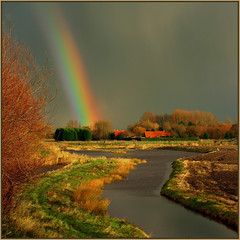 PRISMATIC SIGNS INC. (ESOX LUCIUS) Tags: holland me ilovenature countryside rainbow bravo albaluminis beautifullight taco polder hellevoetsluis potofgold ruralwonders greatsky