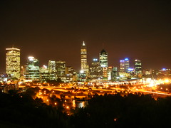 Perth Night View (*GT) Tags: longexposure night lights cityscape australia explore perth wa kingspark coolpix5900