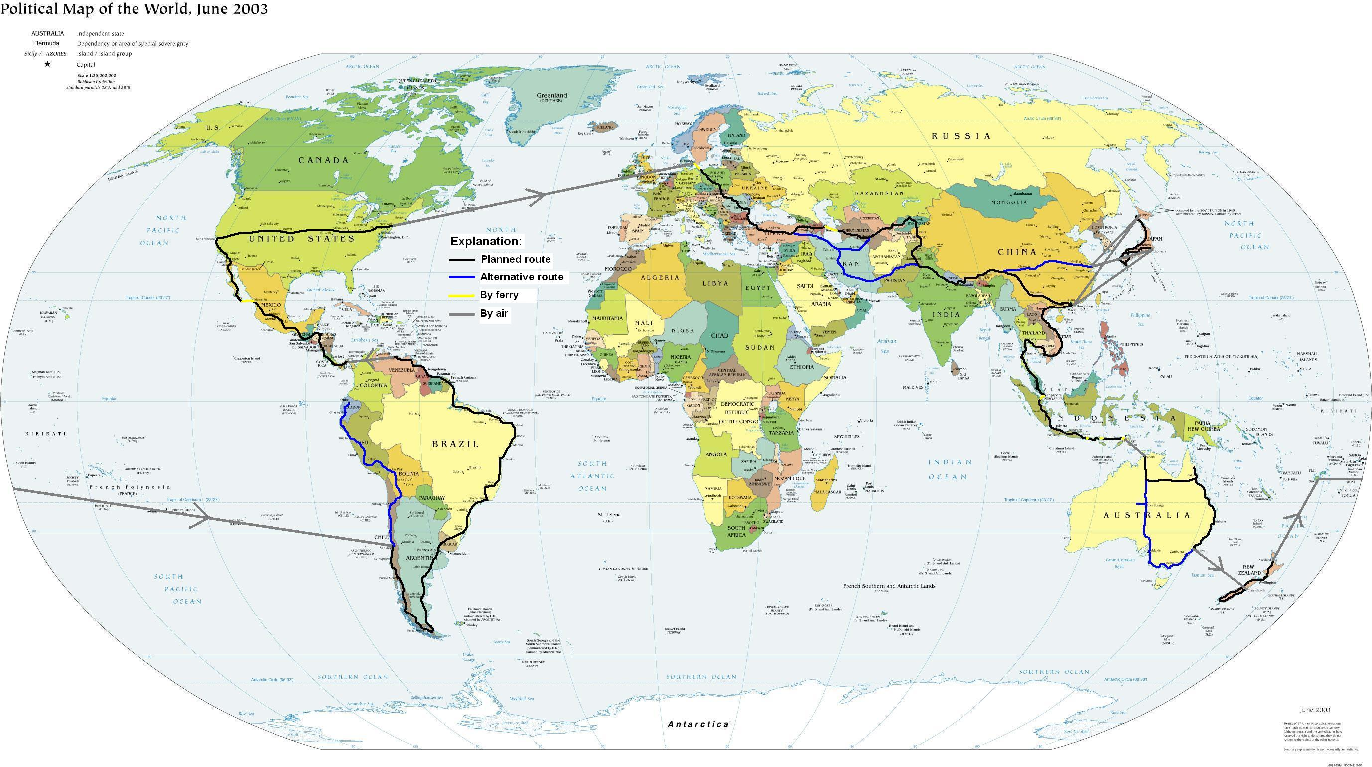 Worldtravellers world world view full size world route map gumiabroncs Choice Image