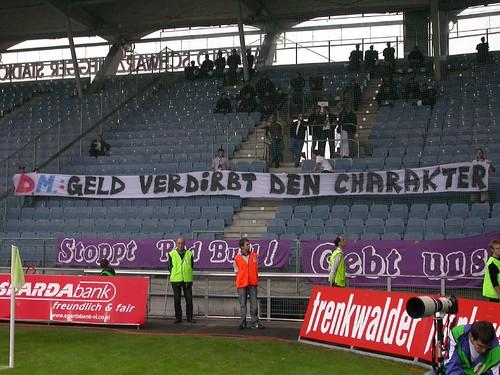 Austra Salzburg Fans Protest