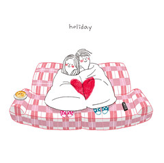 (CHASSAM) Tags: holiday couple illust illstration