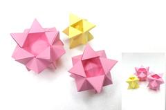 Hyunrang flowers (hyunrang) Tags: flower origami hur polyhedron paperstrip hyunrang