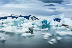 Islande (seb2nogent) Tags: road 1 iceland noir sable lac glacier iceberg plage froid glace islande jkulsrln