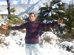 office manager Ajit in snow