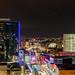 Night skyline Rotterdam, WTC, koopgoot, Markthal