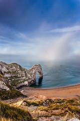 The Door (Phil_J_123) Tags: sea cliff mist seascape rock photography arch dorset coastline poole durdledoor jurassiccoast pjackson harbourviewphotography