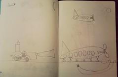 Angry Birds scene imagined by my 6yo son (cod_gabriel) Tags: drawing son dessin dibujo filho fiu tegning desenho disegno hijo fils zeichnung tekening sohn figlio  teckning rysunek 6yo rajz piirustus  desen angrybirds menggambar