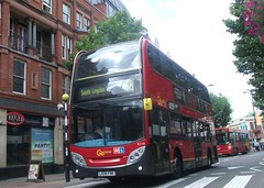 London Central E114  on route 468 Croydon high street 01/08/15. (Ledlon89) Tags: bus london transport croydon londonbus tfl bsues croydonbuses